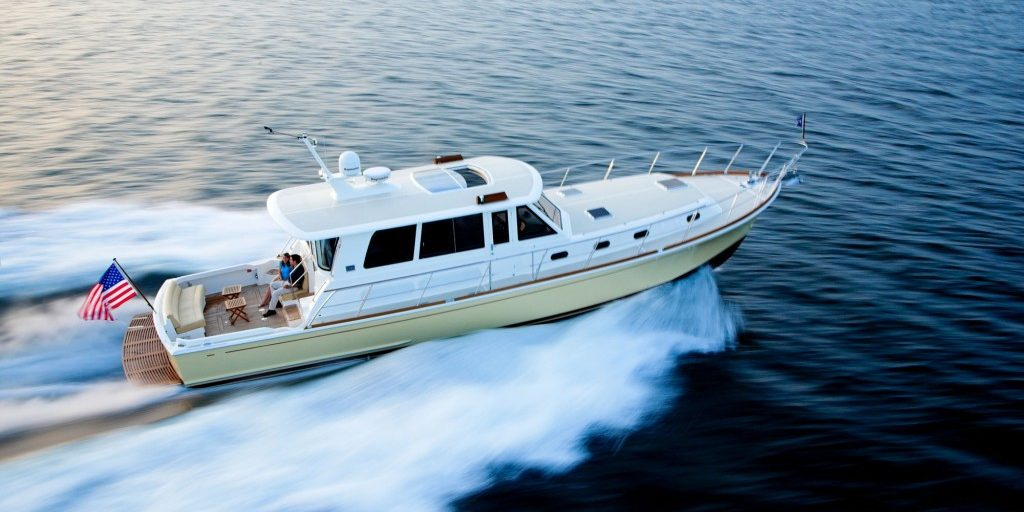 downeast cruiser in open water